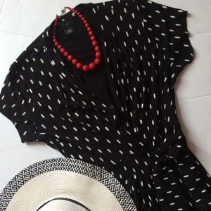 Ann Taylor Factory petite wrap dress sz 8